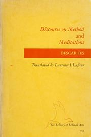 Cover of: Discourse on Method and Meditations