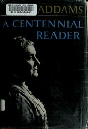 Cover of: Jane Addams: a centennial reader