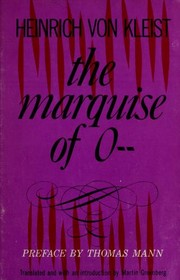 Cover of: The Marquise of O--: and other stories