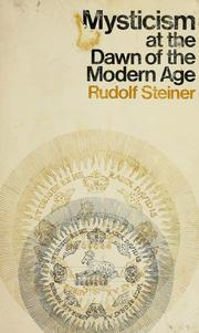 Cover of: Mysticism at the Dawn of the Modern Age