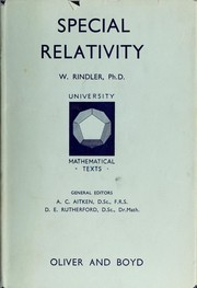 Cover of: Special relativity