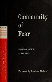 Cover of: Community of fear