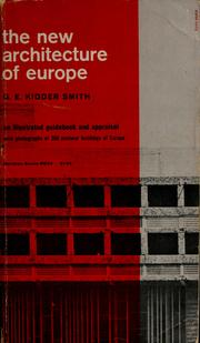 Cover of: The new architecture of Europe