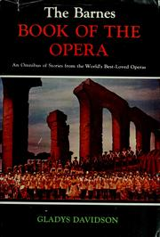 Cover of: The Barnes book of the opera