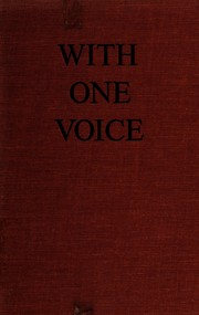 Cover of: With one voice