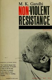 Cover of: Non-violent resistance (Satyagraha)