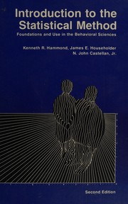 Cover of: Introduction to the statistical method