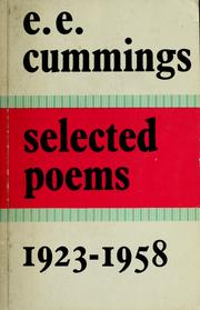 Cover of: Selected poems, 1923-1958
