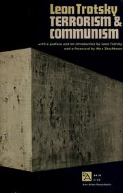 Cover of: Terrorism and communism: a reply to Karl Kautsky
