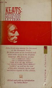 Cover of: Poems and selected letters