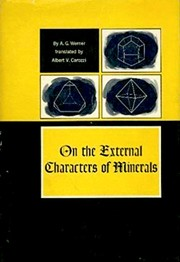 Cover of: On the external characters of minerals