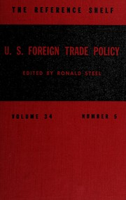 Cover of: U.S. foreign trade policy