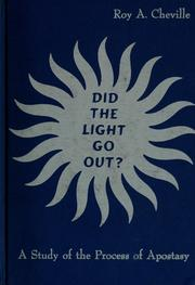 Cover of: Did the light go out?