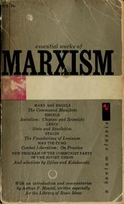 Cover of: Essential works of Marxism