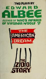 Cover of: The American dream, and The zoo story