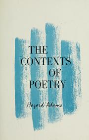 Cover of: The contexts of poetry