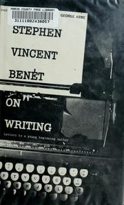 Cover of: Stephen Vincent Benét on writing