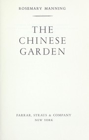 Cover of: The Chinese garden