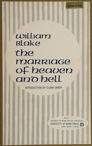 Cover of: The marriage of Heaven and Hell