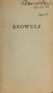Cover of: Beowulf.