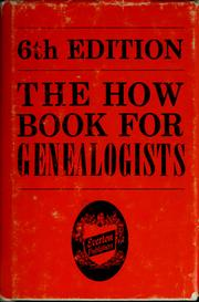 Cover of: The how book for genealogists