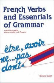Cover of: French verbs & essentials of grammar