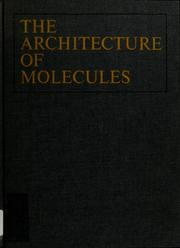 Cover of: Architecture of molecules