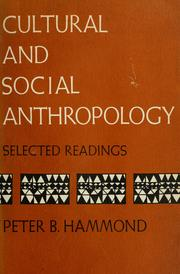 Cover of: Cultural and social anthropology