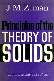 Cover of: Principles of the theory of solids