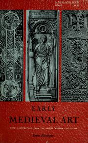 Cover of: Early medieval art