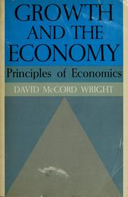 Cover of: Growth and the economy