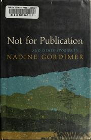 Cover of: Not for Publication