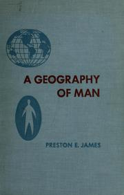 Cover of: A geography of man