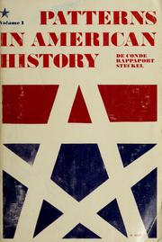 Cover of: Patterns in American history