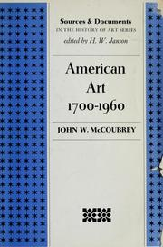 Cover of: American art, 1700-1960