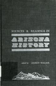 Cover of: Sources & readings in Arizona history