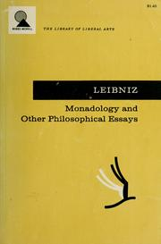 Cover of: Monadology and other philosophical essays