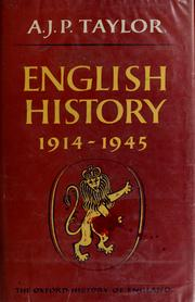 Cover of: English history: 1914-1945