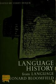 Cover of: Language history