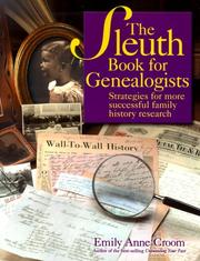 Cover of: The sleuth book for genealogists