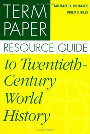 Cover of: Term paper resource guide to twentieth-century world history
