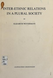 Cover of: Inter-ethnic relations in a plural society