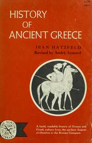Cover of: History of ancient Greece