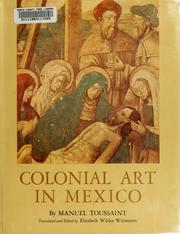 Cover of: Colonial art in Mexico