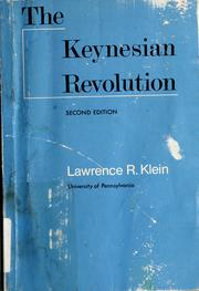 Cover of: The Keynesian revolution