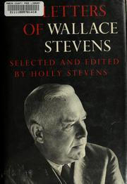 Cover of: Letters of Wallace Stevens