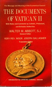 Cover of: The documents of Vatican II