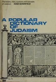 Cover of: A popular dictionary of Judaism