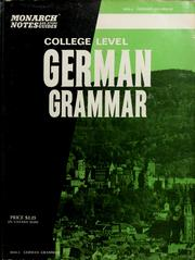 Cover of: German grammar, college level