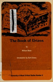 Cover of: First book of Urizen